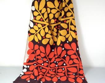 vintage fabric, 70s fabric, mid-century fabric, vintage supplies, retro fabric, floral retro fabric, floral fabric, destash