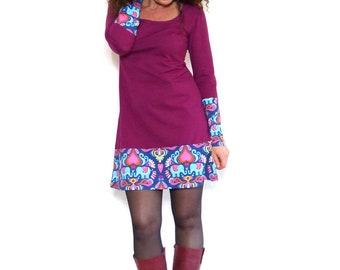 Dress with elephant pattern