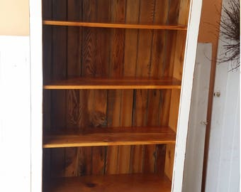 Reclaimed Pine Farmhouse Style Book Case