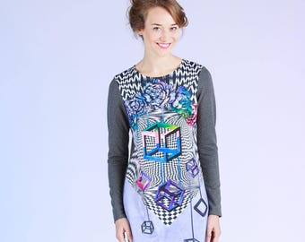 Illusion - sweatshirt dress