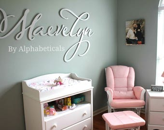 Hanging Wall Letters wooden letters for nursery wall letters namealphabeticals
