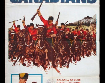 THE CANADIANS original 1961 movie poster Mounties RCMP western