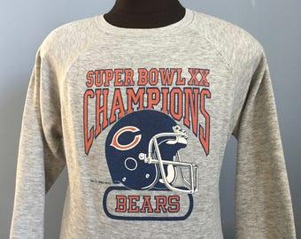 80s Vintage Chicago Bears Super Bowl XX Champions 1985 1986 nfl football Sweatshirt - LARGE