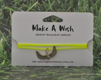 Make-A-Wish Choker Bracelet Anklet Wing Charm