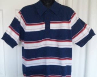 CLASSIC Vintage 1970s Nylon Golf Shirt