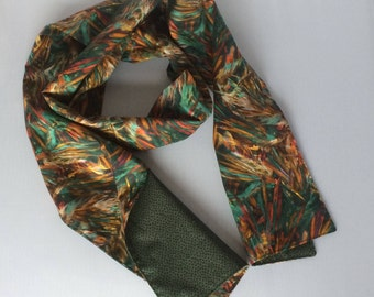 Handmade Liberty of London Tana lawn double sided scarf - made in Cornwall