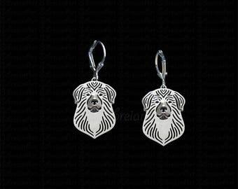 Great Pyrenees earrings - sterling silver.