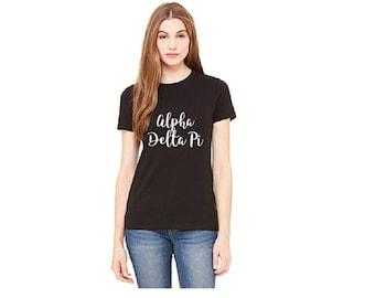 Alpha Delta Phi -Sorority Sisters Shirts - Ladies T-shirt - Womens Tee.