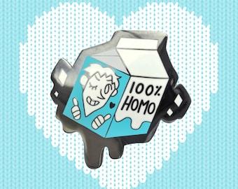100% HOMO Enamel Lapel Pin