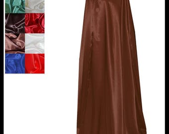 Brown Shimmer Satin Cloak lined with Shimmer Satin. Ideal for LARP LRP Medieval Cosplay Costume. Made especially for you. NEW!