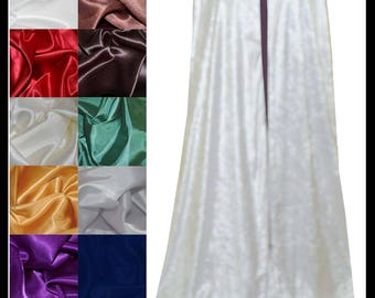White Crushed Velvet Cloak lined with a Shimmer Satin of your choice. Ideal for LARP LRP Medieval Cosplay Costume. NEW!