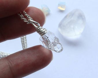 Swarovski Skull Necklace With Silver Filled Wire Wrapping