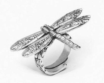 """Spoon Ring: """"Dragonfly"""" by Silver Spoon Jewelry"""