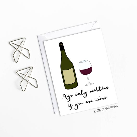 Wine birthday card wine lovers funny girlfriend bday 30th 40th il570xn bookmarktalkfo Image collections
