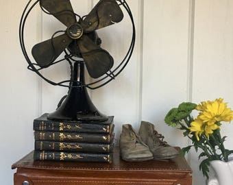 Emerson Fan Northwind Electric Table Top Black Fan Rusty Metal Industrial Chic  Office Table Display  Decor Prop