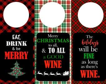 Christmas Wine Tags (set of 3)