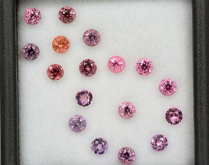 Pretty Pink Spinel Gemstone Set 3.0 mm Rounds 2.28 tcw.