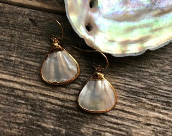 Gold Dipped Pearl Earrings,Pearl Earrings Gold,Gold Pearl Earrings,Wedding Earrings,Bridal Jewelr,Bridal Earrings,Gold Edged Pearl Earrings