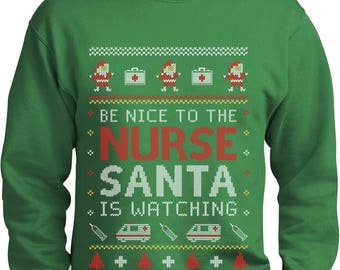 Nurse Ugly Christmas sweater Funny Xmas Gift for Nurses Sweatshirt
