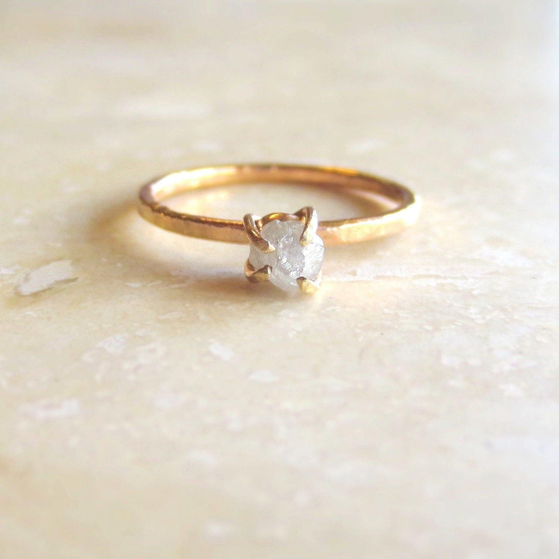 Engagement Ring Raw Diamond Engagement Rings Rough Diamond