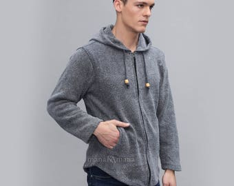 Men's Cotton Jacket - Stone washed - Casual jacket