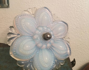 Antique Opalescent curtain tie back tieback