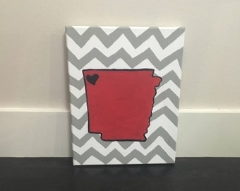 Chevron Arkansas Canvas
