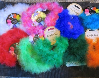 feather craft boa,assorted colors,1 yd,costume trim,crafts,hat trim,home decor projects,purses,Touch of Nature