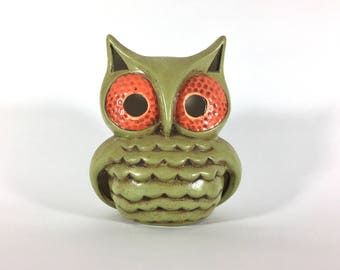 Vintage Owl Candle Holder, Home Decor, Retro, 1970s