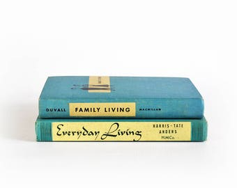 Vintage Antique Set of Two (2) Family Everyday Living Home Books