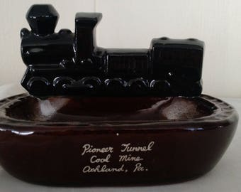 Vintage train catch all/ashtray  from PA. collectable