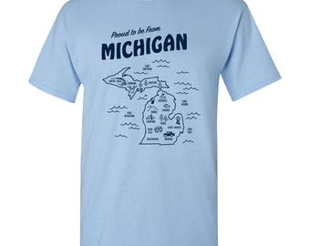 Proud to be from Michigan Basic Cotton T Shirt