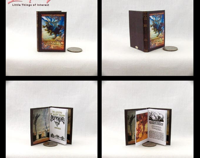 The LEGEND Of SLEEPY HOLLOW 1:6 Scale Book Readable Book Color Illustrated by Arthur Rackham Washington Irving