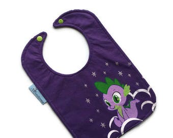 My Little Pony Baby Bib • Baby Shower Gift • Upcycled Tshirt Bib •