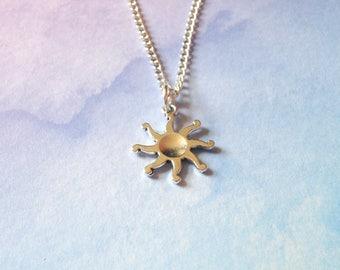 Sun Necklace, Sunshine Necklace, Indie necklace, grunge necklace, pastel goth necklace, nu goth necklace tumblr necklace 90s necklace style