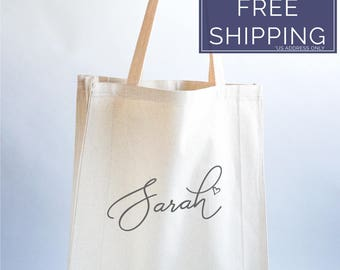 Personalized Tote Bag Bridesmaid, Bridesmaid Gifts, Bridesmaid Tote Bag, Personalized Wedding Bag, Bridal Party Gift, Wedding Thank You Gift