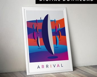 ARRIVAL  (Printable Movie Poster, Arrival Print, Sci-fi Poster)