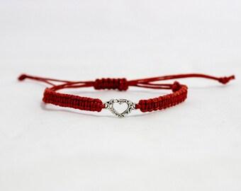 Summer gift bracelet | Heart bracelet | Macrame charm bracelet | Friendship bracelet | Macrame bracelet | Charm bracelet | Boho bracelet