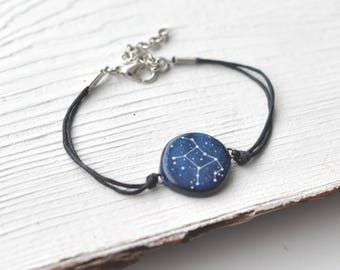 Virgo bracelet Zodiac September birthday Constellation Horoscope Sign gift Star Symbol August Astronomy jewelry Gift for Personalized Galaxy