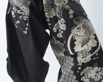 SR0251 Samurai pants with Unique Hilltribe fabric Wrap Around