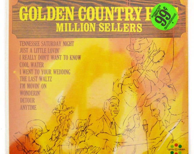 Vintage 70s Bon Jones Golden Country Hits Million Sellers Sealed Country Record Vinyl LP