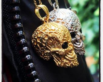 Sterling Silver Skull pendant Silver Skull pendant Gold Skull Pendant Pink Gold Skull Pendant Skulls Pendant Skull Necklace Designer Skull