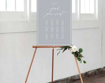 PRINT Wedding Table Plan - Calligraphic style