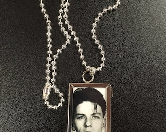 Frank Sinatra Glass Picture Frame Necklace