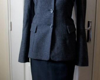 Like vintage tweed gray jacket. 1940s style