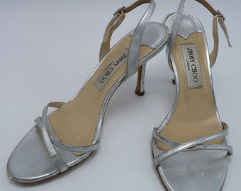 90's Jimmy Choo Metallic Silver Pumps