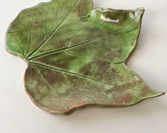 Ceramic Leaf -  Concord Grape
