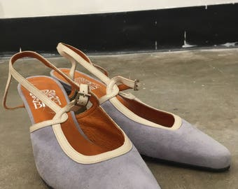 Vintage Biba Lilac Suede Pumps