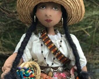 Soldadera, La Adelita Art Doll