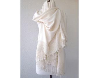 Wedding Shawl, winter wedding shawl, Ivory Bridal Shawl, Thick for Winter, bridal cover up, bridal scarf, Bridesmaid Gift, BEST SELLER